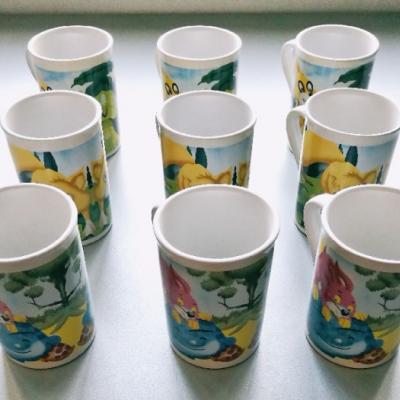 9-teiliges Teetassen Set mit Motiven - thumb