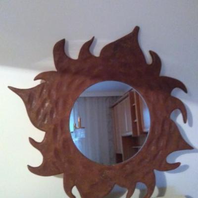Holzspiegel - Sonne - thumb