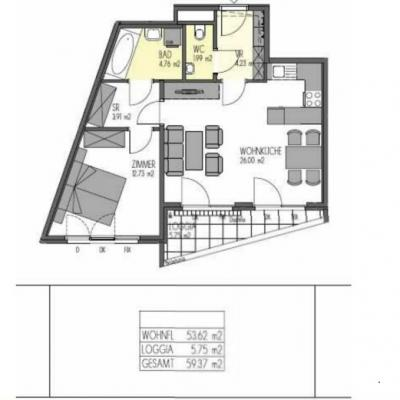2 Zimmer Genossenschaftswohnung - thumb