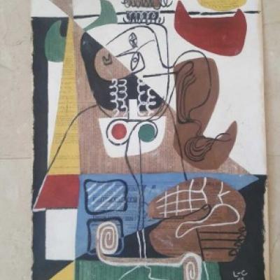 Avantgarde Collage Signierd Le Corbusier - thumb