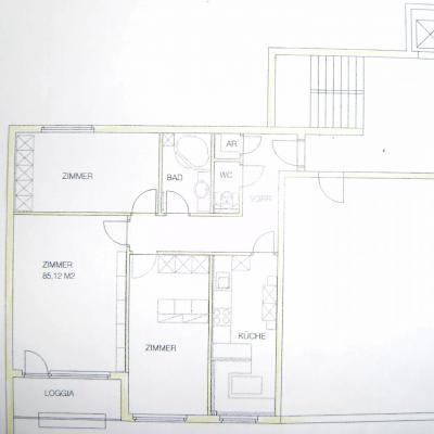 Ruhige West-Loggia-Wohnung 3 Zimmer mit Parkblick in Hietzing zu mieten - thumb