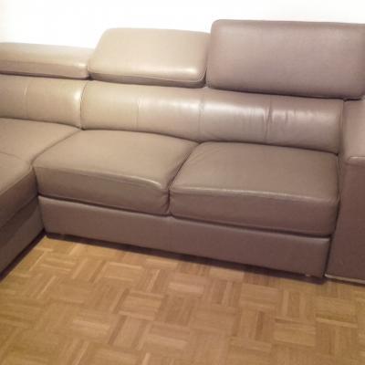 Couch Kunstleder hellbraun - thumb