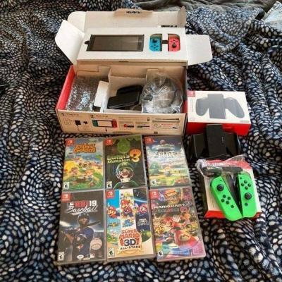 Nintendo Switch Pack mit Zubehör und Spielen - thumb