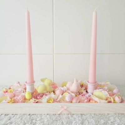 Ostern/Frühlings Tischdekoration mit Kerze - thumb