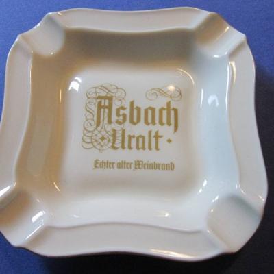 Asbach Uralt - Porzellan Aschenbecher - Vintage 60er /70er Jahre - thumb