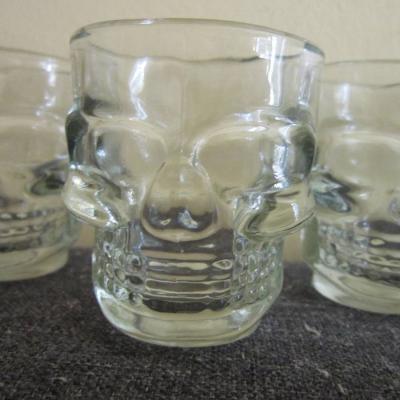5 Stück Schnapsgläser - Totenkopf - Skull - Stamperl - Glas - thumb
