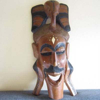 Alte Holzmaske - Elefant - Afrostyle - massiv - 50, 5cm x 22cm - thumb
