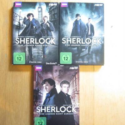 Sherlock - Staffel 1+2+3  - Dvd Boxen - thumb