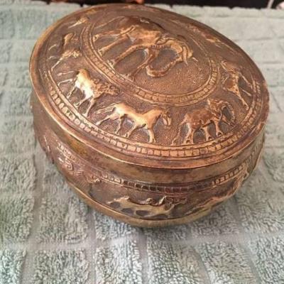 Sehr alte und schöne Dose aus Kupfer - thumb