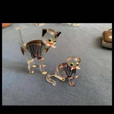 2 Figuren aus Murano Glas - thumb