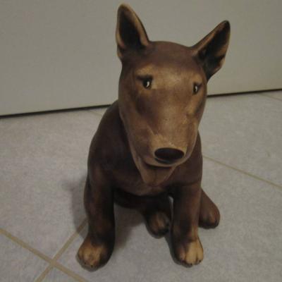 Britisch Bullterrier - Keramik - Figur - Statue - Höhe: 25cm - Hund - thumb