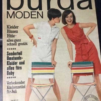 Burda Moden 7 Juli 1966 Modezeitschrift mit Schnittbogen - thumb