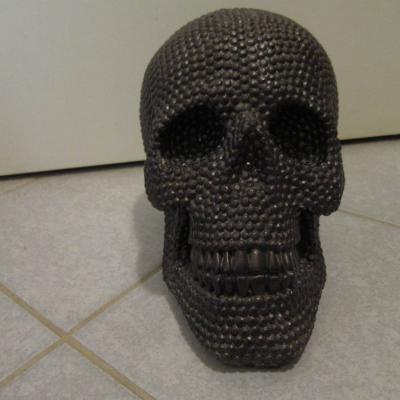 Großer Schwarzer Totenkopf - Skull - Schädel - 25cm Länge, Höhe 18cm - thumb