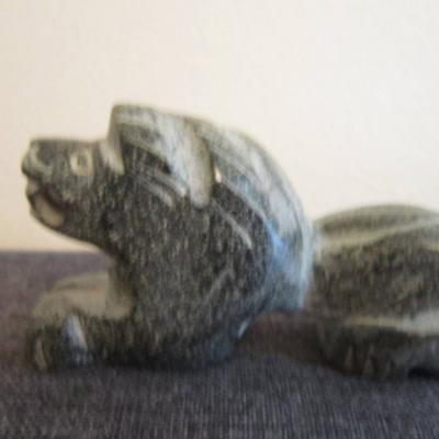 Löwe - Steinfigur - Naturstein - Handarbeit - Länge: 9,5cm - Höhe: 5,1 - thumb