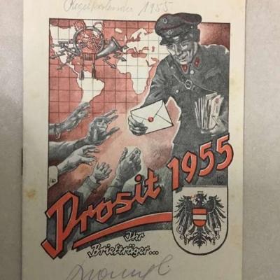 Briefträger Kalender 1955 - thumb