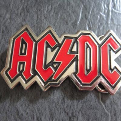 AC/ DC Gürtelschnalle - 9,5cm x 5,5cm - Acdc - thumb