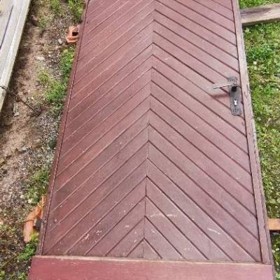 Türstock aus Granit mit Originaler Eichenvollholztür - thumb