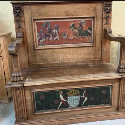 Historische Holzbank - thumb