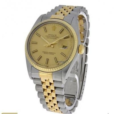 Rolex 31mm Oyster Perpetual Datejust Gold/ Edelsta - thumb
