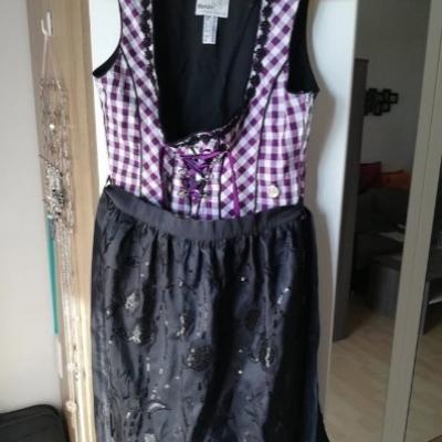 Dirndl Größe 40 mit Bluse und Schürze von Marjo - thumb