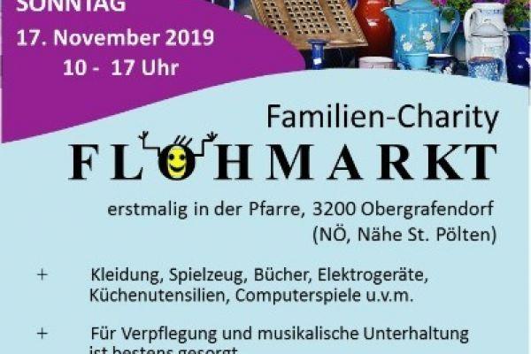 Familien Charity Flohmarkt 17.11.2019