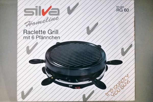 Neuwertiges Silva Homeline Raclette Grill-Set