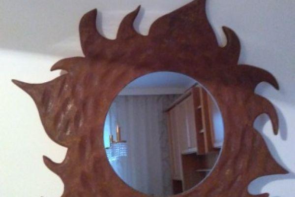 Holzspiegel - Sonne