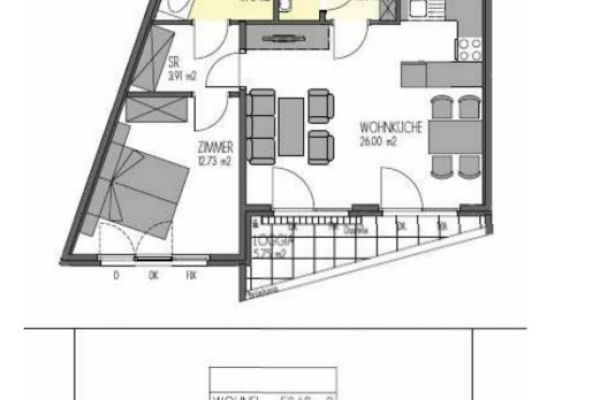 2 Zimmer Genossenschaftswohnung