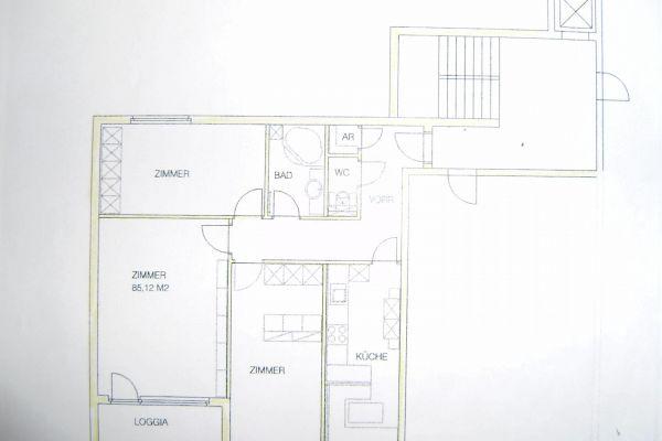 Ruhige West-Loggia-Wohnung 3 Zimmer mit Parkblick in Hietzing zu mieten