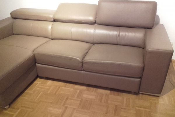 Couch Kunstleder hellbraun