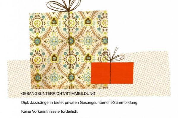 Gutschein für 5 Einheiten GESANGSUNTERRICHT/ STIMMBILDUNG