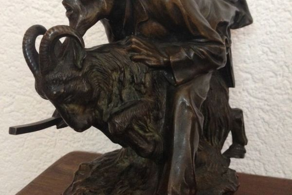 Einzigartige Skulptur aus Bronze Hans Ledwina um 1925