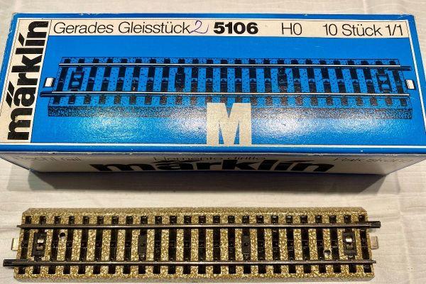 Maerklin Geleise - gebettete Metallgeleise