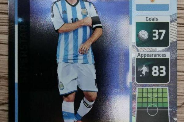 Die Fußballstars WM2014 - Lionel Messi - Superstar-Sammelkarte