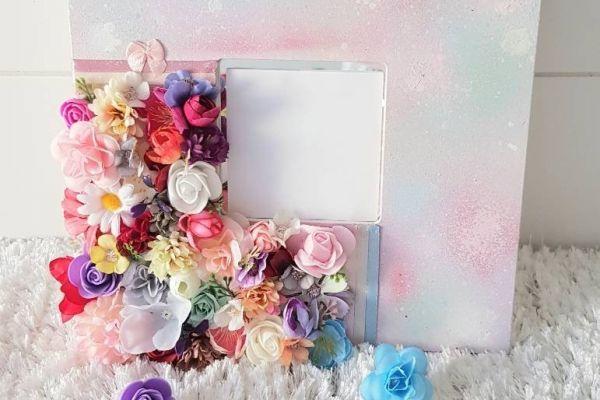 Ikea Malma Spiegel Dekoration Bunt mit Blüten