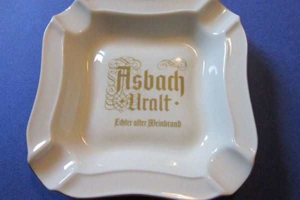 Asbach Uralt - Porzellan Aschenbecher - Vintage 60er /70er Jahre