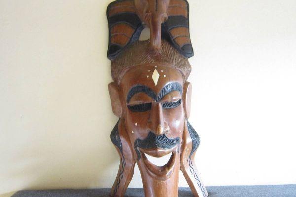 Alte Holzmaske - Elefant - Afrostyle - massiv - 50, 5cm x 22cm