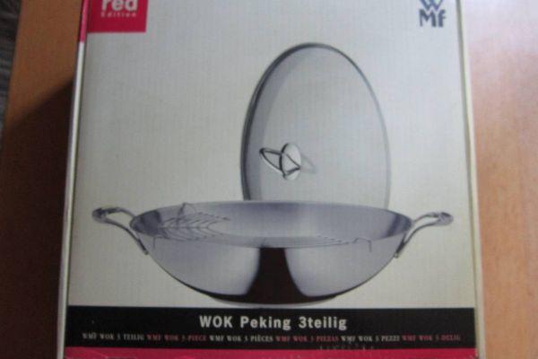WMF Wok Peking - 3 Teilig - Hochwertiger Wok