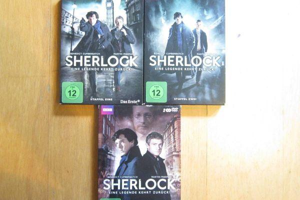Sherlock - Staffel 1+2+3  - Dvd Boxen