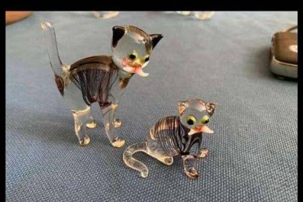 2 Figuren aus Murano Glas