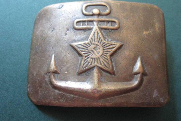 Russische Gürtelschnalle - Kriegsmarine - UdSSR - Sowjet - 7cm x 5,5cm