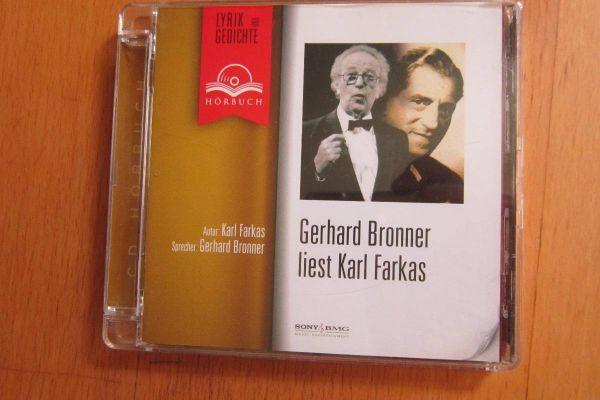 Gerhard Bronner liest Karl Farkas - Hörbuch CD
