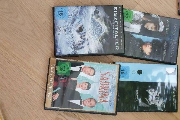 DVD Sammlung Sabrina, Eiszeitalter, Rebecca, Anna Karenina