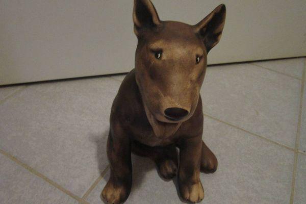 Britisch Bullterrier - Keramik - Figur - Statue - Höhe: 25cm - Hund