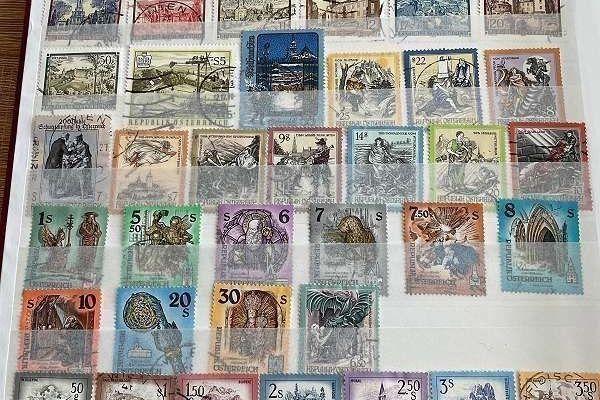 Briefmarken Österreich über 500 Stück, gestempelt
