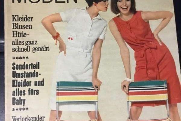 Burda Moden 7 Juli 1966 Modezeitschrift mit Schnittbogen