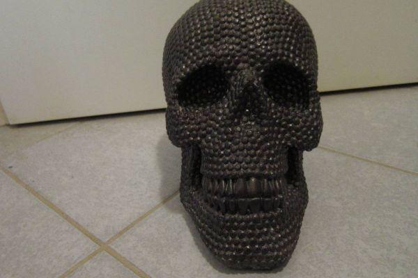 Großer Schwarzer Totenkopf - Skull - Schädel - 25cm Länge, Höhe 18cm