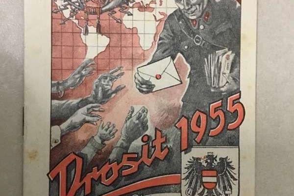 Briefträger Kalender 1955
