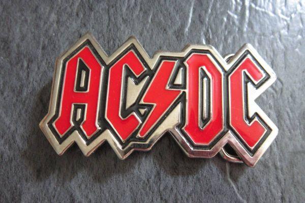 AC/ DC Gürtelschnalle - 9,5cm x 5,5cm - Acdc