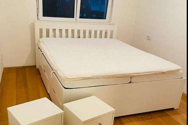 Bett mit 4 Schubladen inkl. Matratzen, Lattenrost & Topper